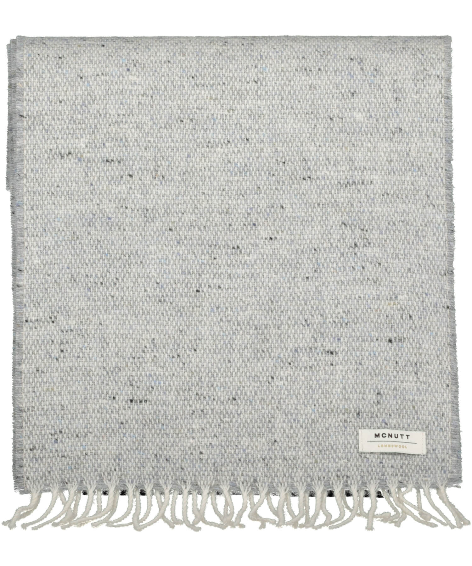 Donegal Tweed Scarf - Light Grey - [McNutts] - Unisex Scarves - Irish Gifts