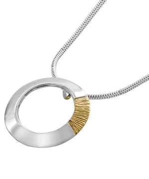 Soilse - Silver & Gold Pendant (large) - [Garrett Mallon] - Jewellery - Irish Gifts