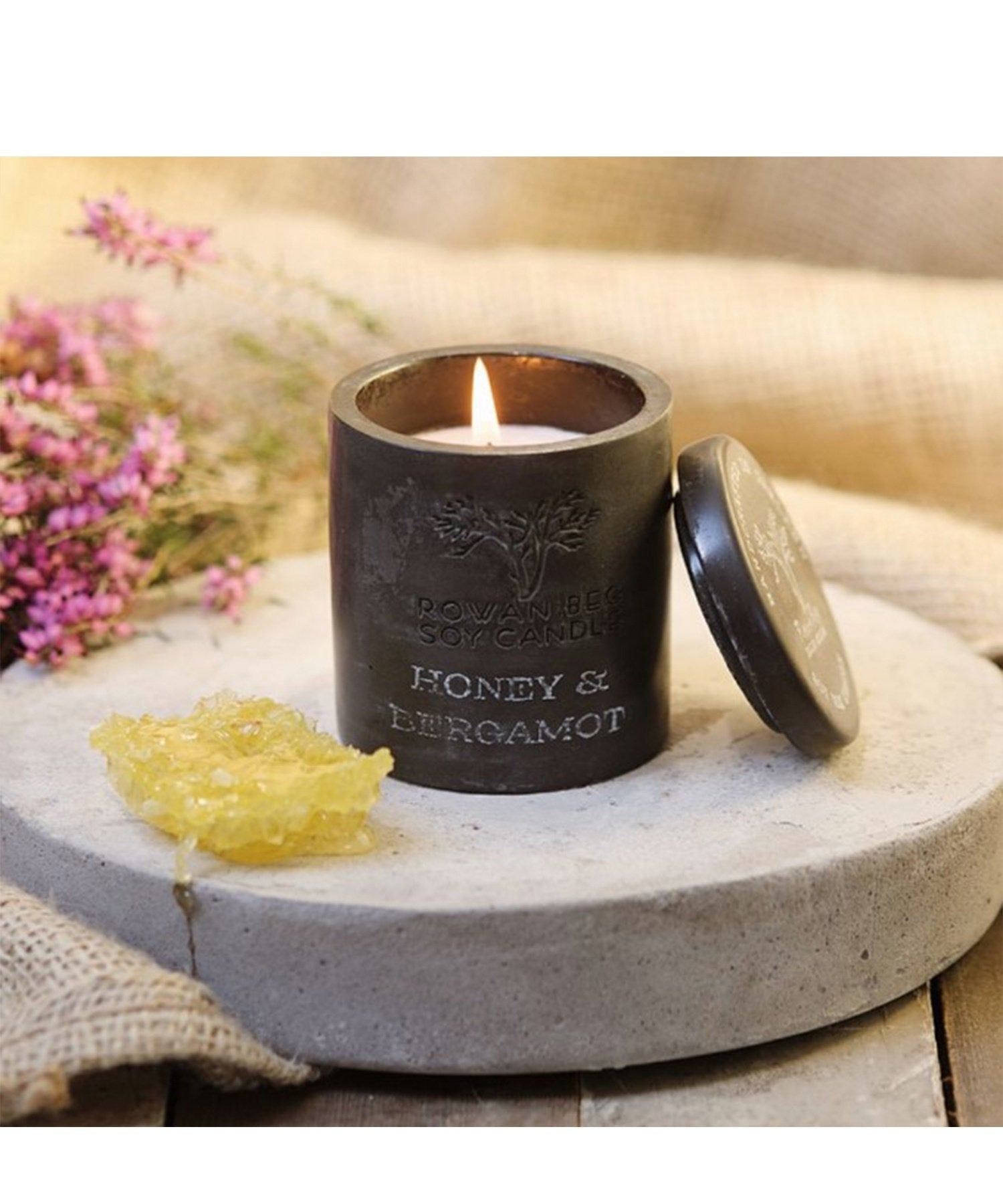 Urban Candle - Honey & Bergamot - [Rowan Beg] - Home Fragrance - Irish Gifts