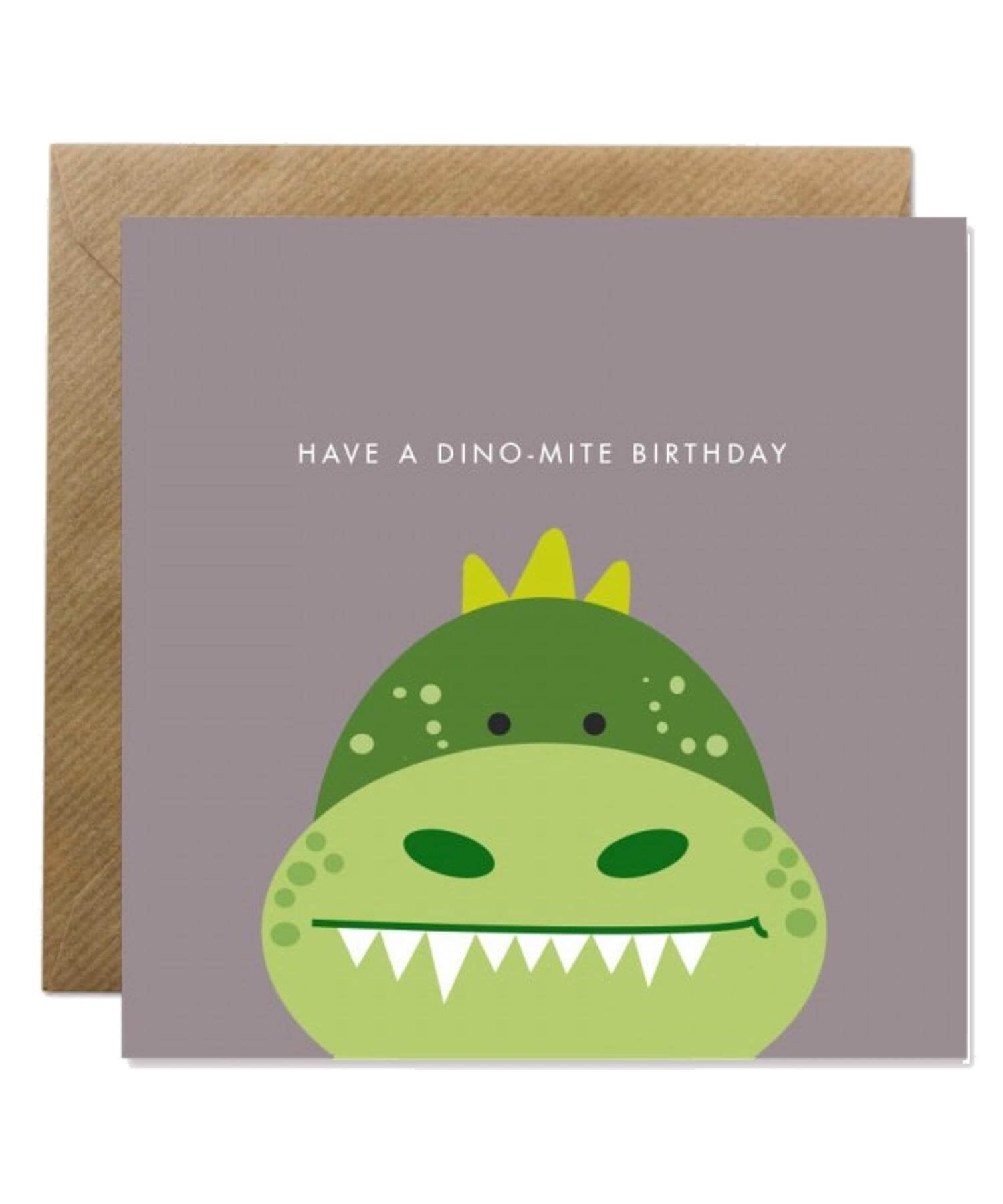 Greeting Card - Dino-mite Birthday Bold Bunny Cards