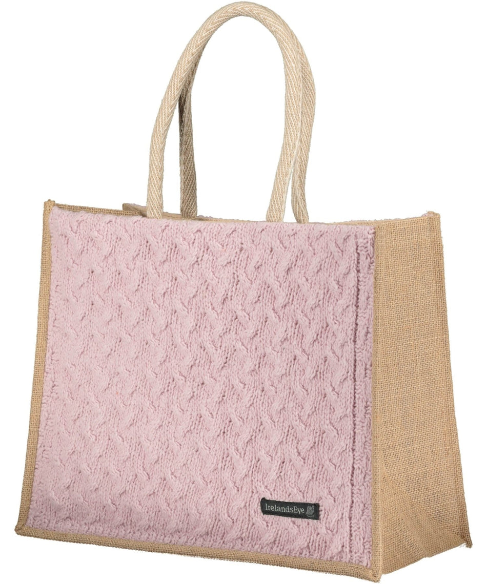 Luxe Cable Bag - Pink Mist - [Irelands Eye] - Bags, Purses & Wallets - Irish Gifts