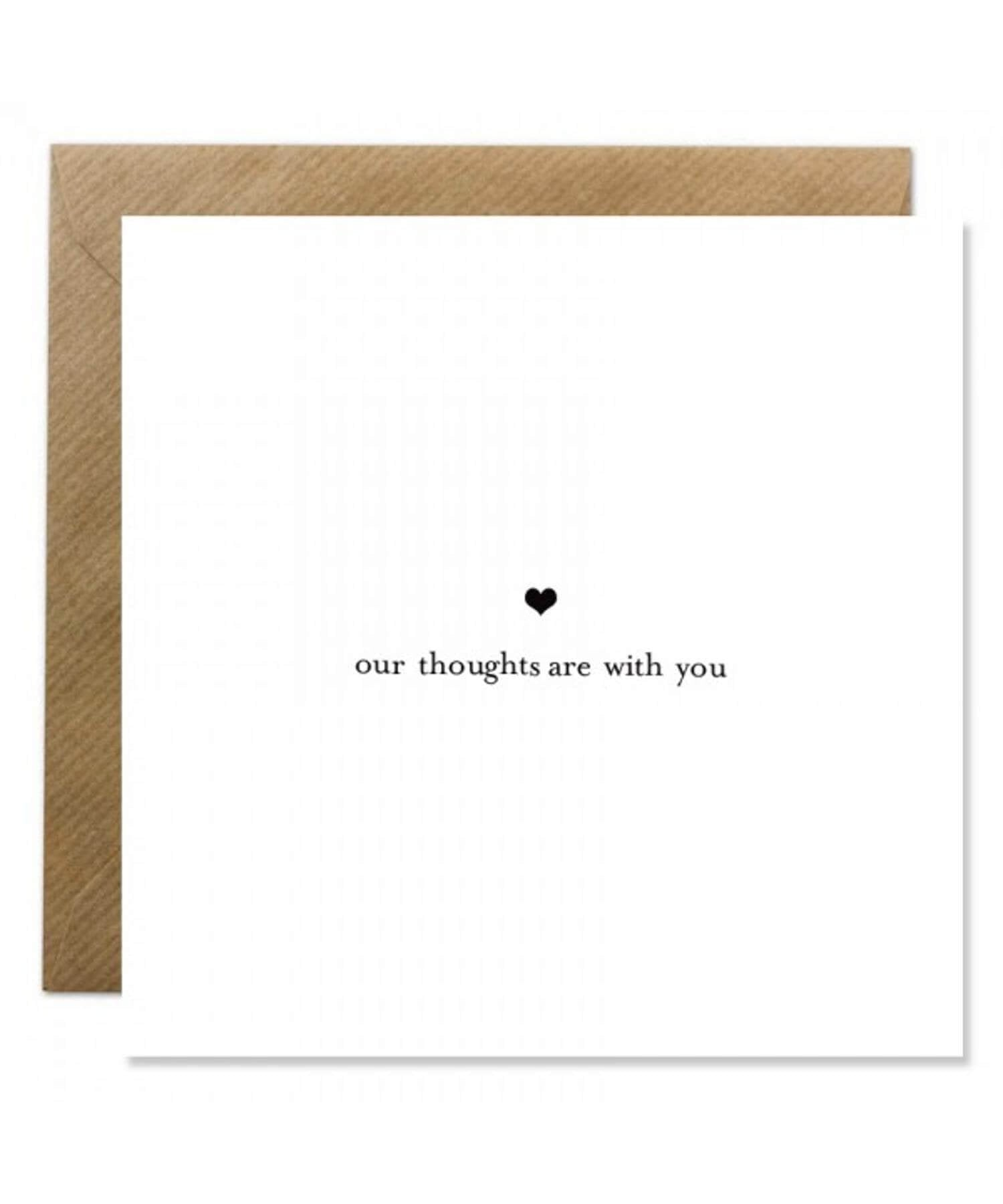 Greeting Card - Our Thoughts Bold Bunny Cards