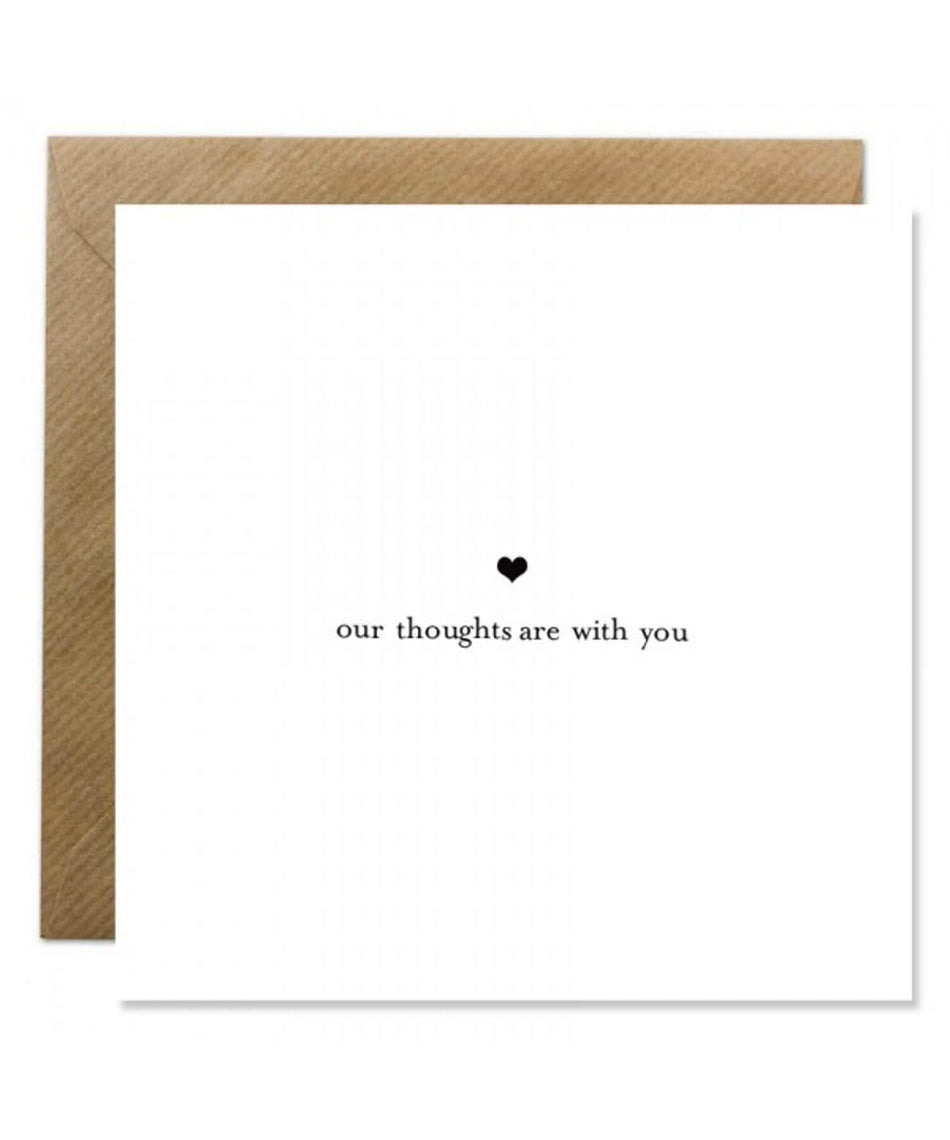 Greeting Card - Our Thoughts - [Bold Bunny] - Greeting Cards - Irish Gifts
