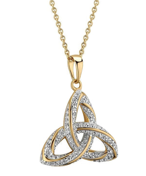 Gold Plated Trinity Knot Pendant - [Solvar] - Jewellery - Irish Gifts