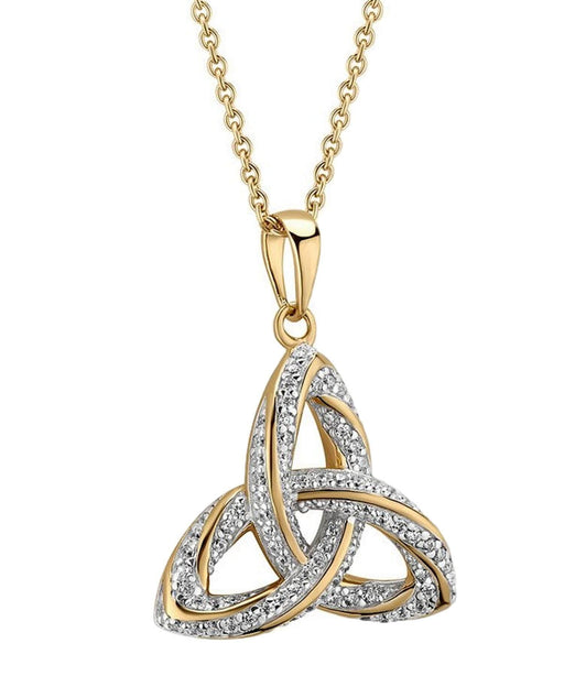 Gold Plated Trinity Knot Pendant Solvar Celtic Jewellery