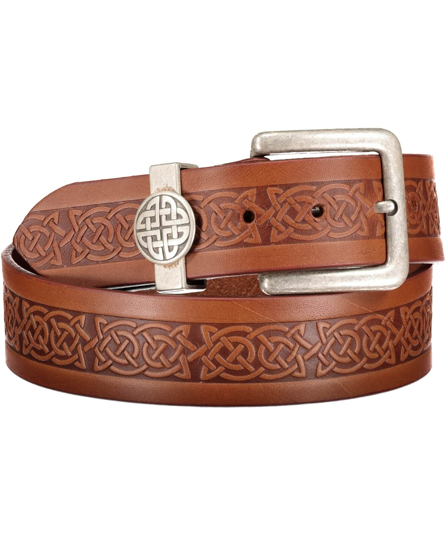 Asgard Jeans Belt - Brown - [Lee River] - Leather Belts & Buckles - Irish Gifts