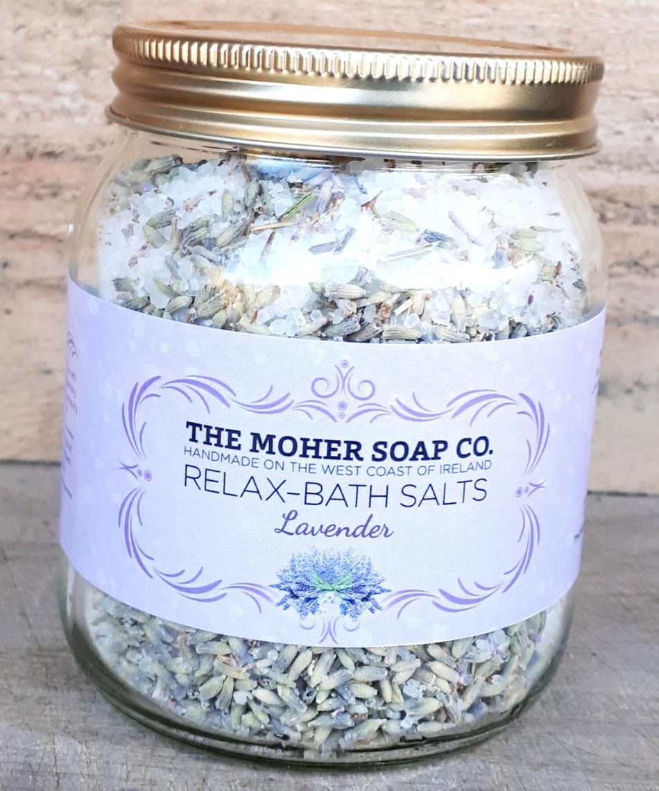 Bath Salts - Lavender - [The Moher Soap Co.] - Skincare & Beauty - Irish Gifts
