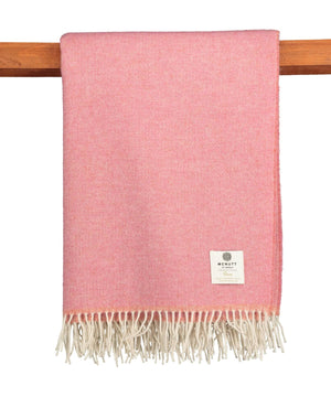 Home Wool Throw - Fruity Pink - [McNutts] - Throws & Cushions - Irish Gifts