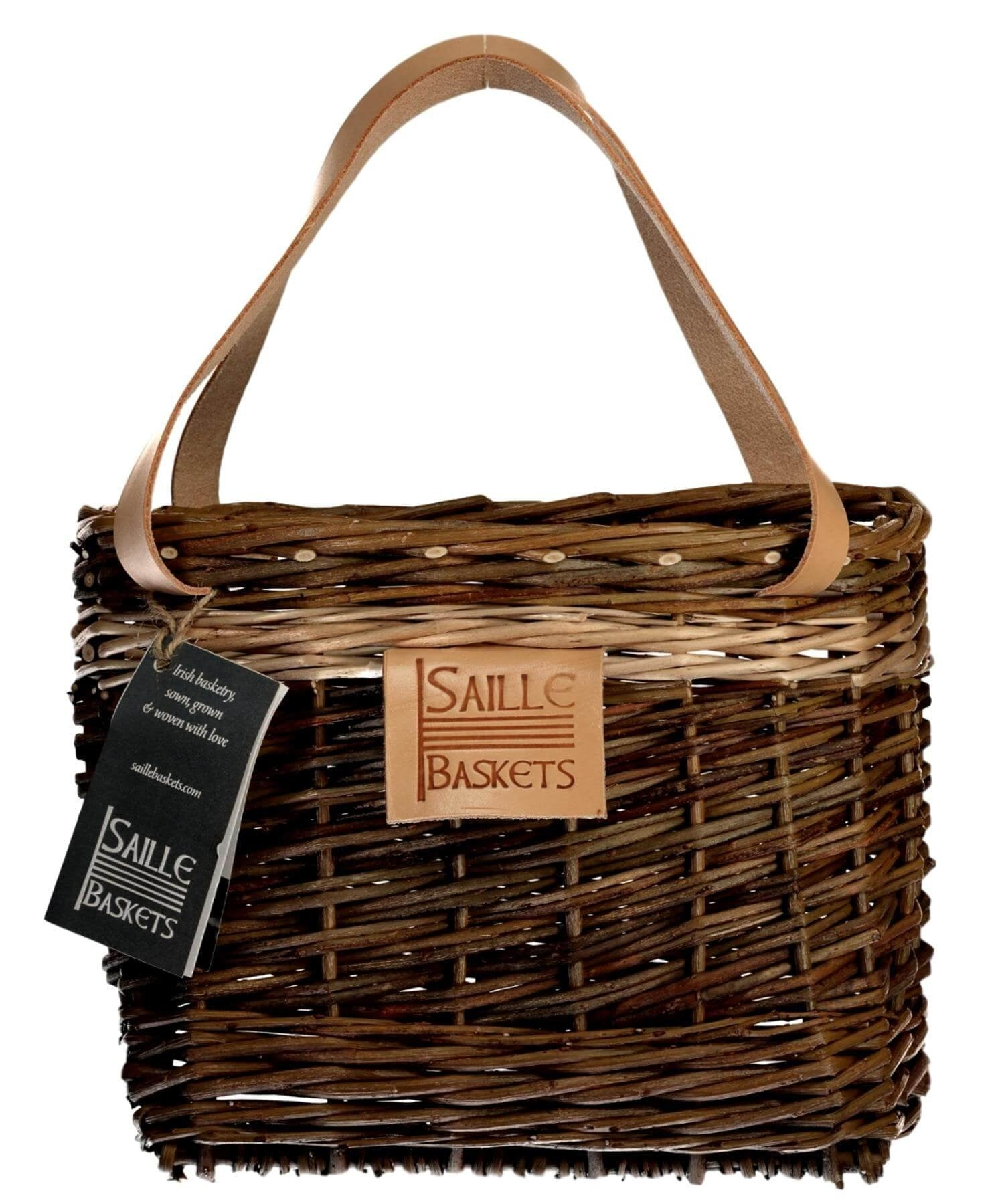 Lunch Pouch - Light Brown Saille Baskets Wood & Slate