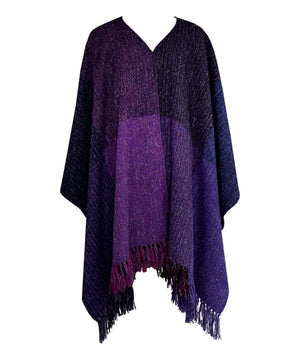 Handwoven Ruana - Berries - [Studio Donegal] - Ladies Capes, Shawls & Ponchos - Irish Gifts