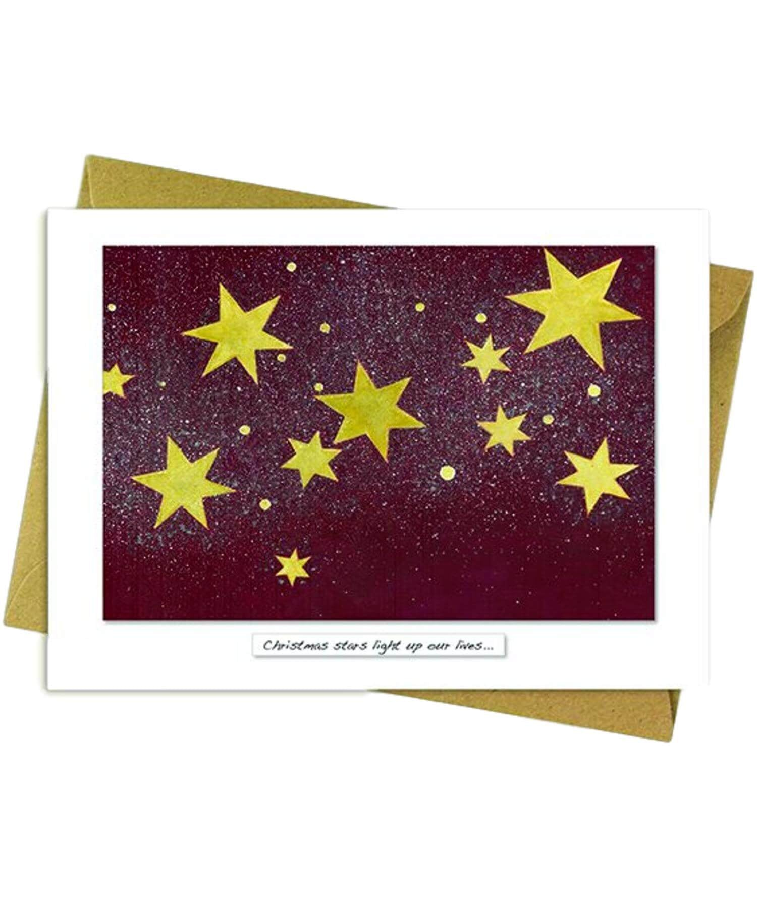 Greeting Card - Christmas Stars - [Rita Oates] - Greeting Cards - Irish Gifts