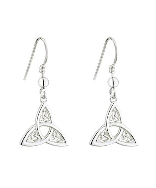 Trinity Knot Drop Earrings Solvar Celtic Jewellery