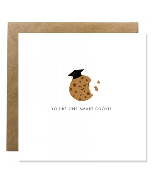 Greeting Card - Youre One Smart Cookie Bold Bunny Cards