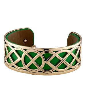 Cuff - Gold Plated Celtic Knot - [Solvar] - Jewellery - Irish Gifts