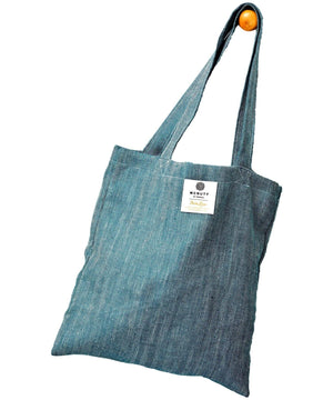 Irish Linen Bag - Kingfisher - [McNutts] - Bags, Purses & Wallets - Irish Gifts