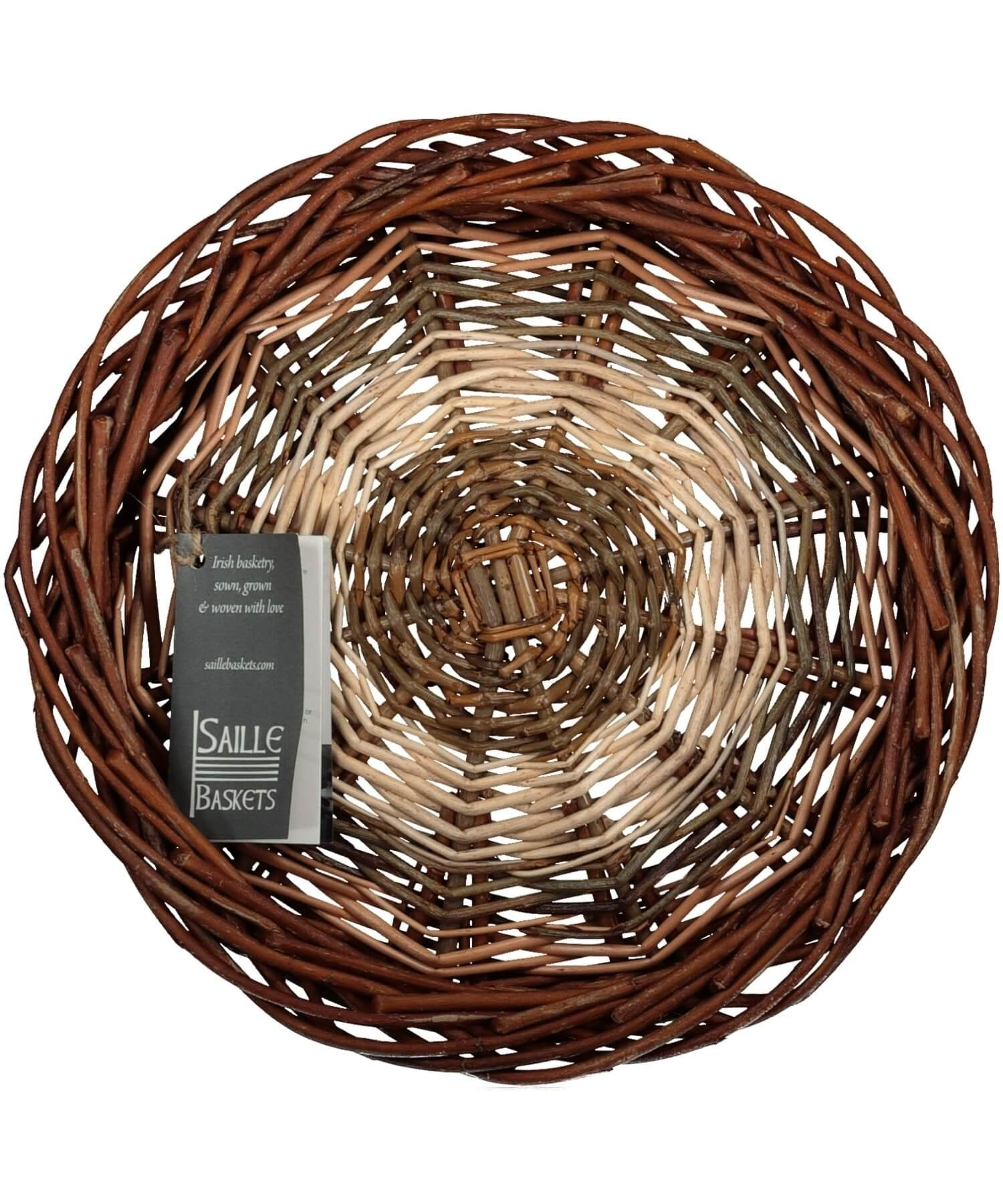 Irish Ciseog (small) Saille Baskets Wood & Slate
