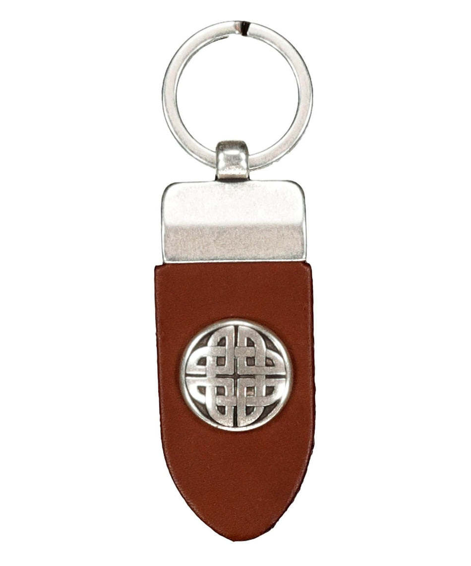 Finnbenach Keyring - Small Celtic Knot (brown) - [Lee River] - Bags, Purses & Wallets - Irish Gifts