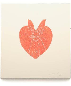 Hand Carved Print - Hare - [Hearts of Ireland] - Wall Art & Photography - Irish Gifts