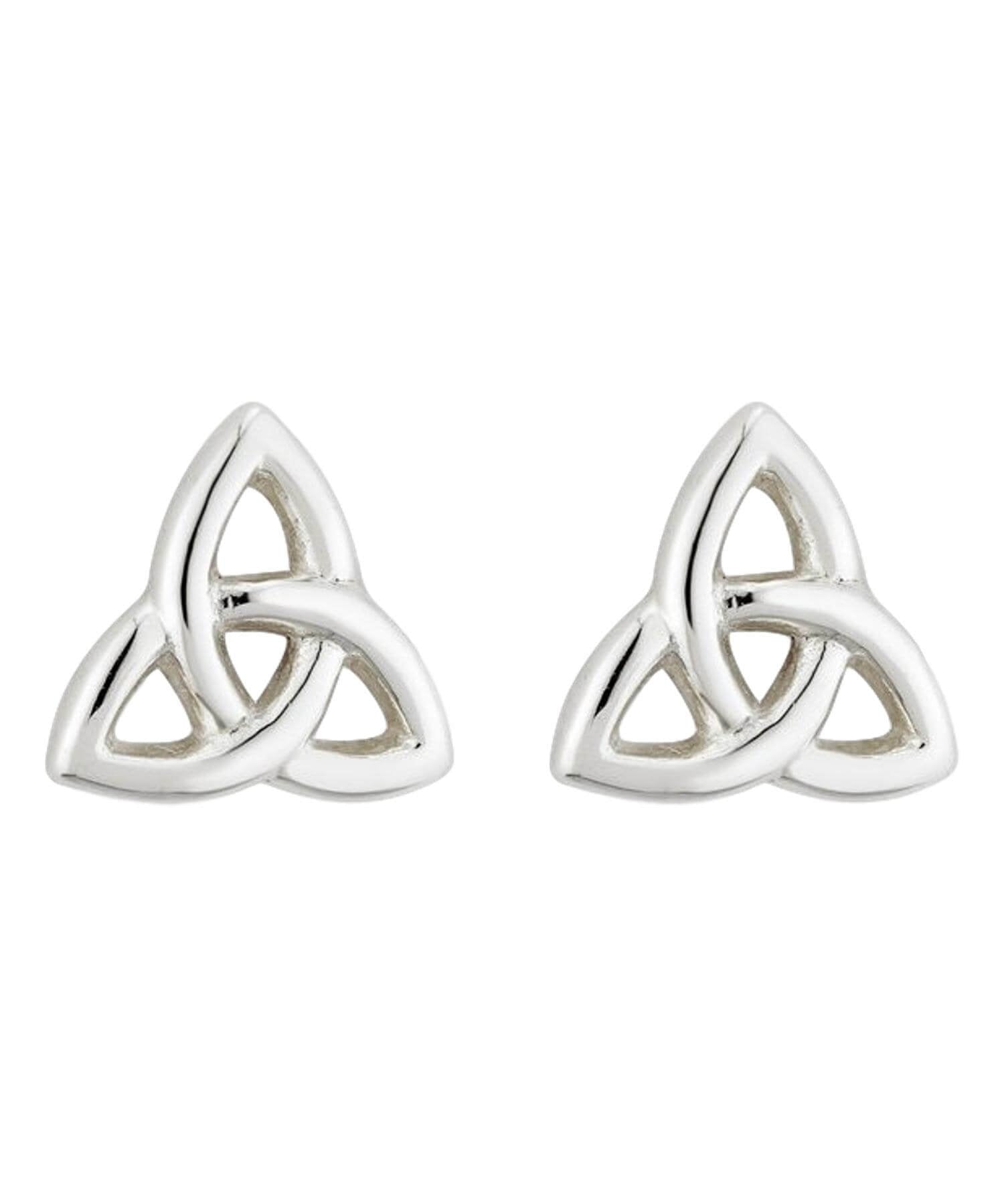 Trinity Knot Stud Earrings Solvar Celtic Jewellery
