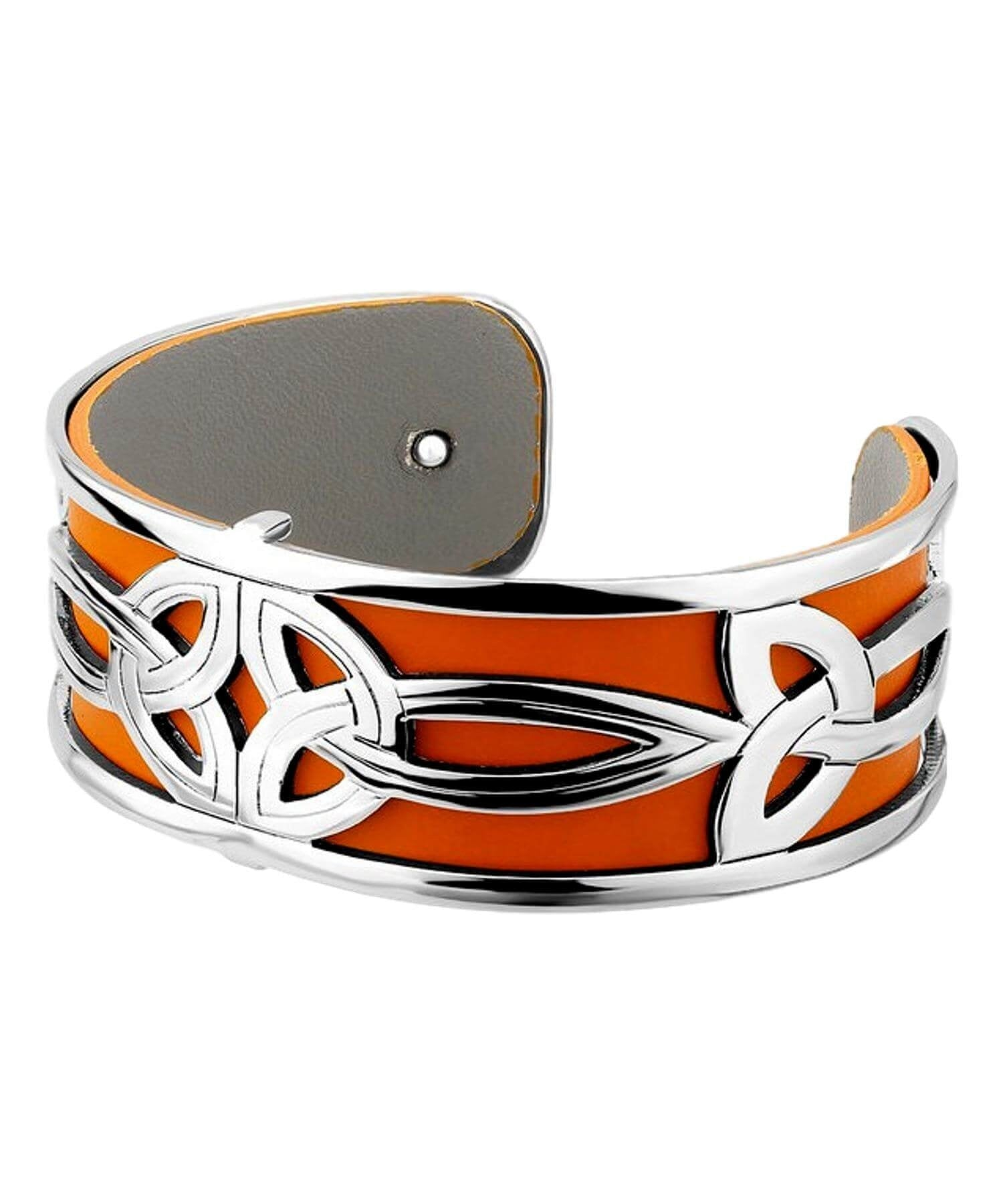 Cuff - Double Trinity Knot Solvar Celtic Jewellery