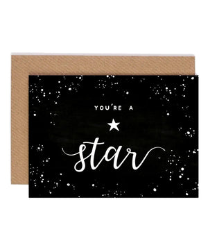 Greeting Card - You're A Star (black) - [Under the Willow] - Greeting Cards - Irish Gifts