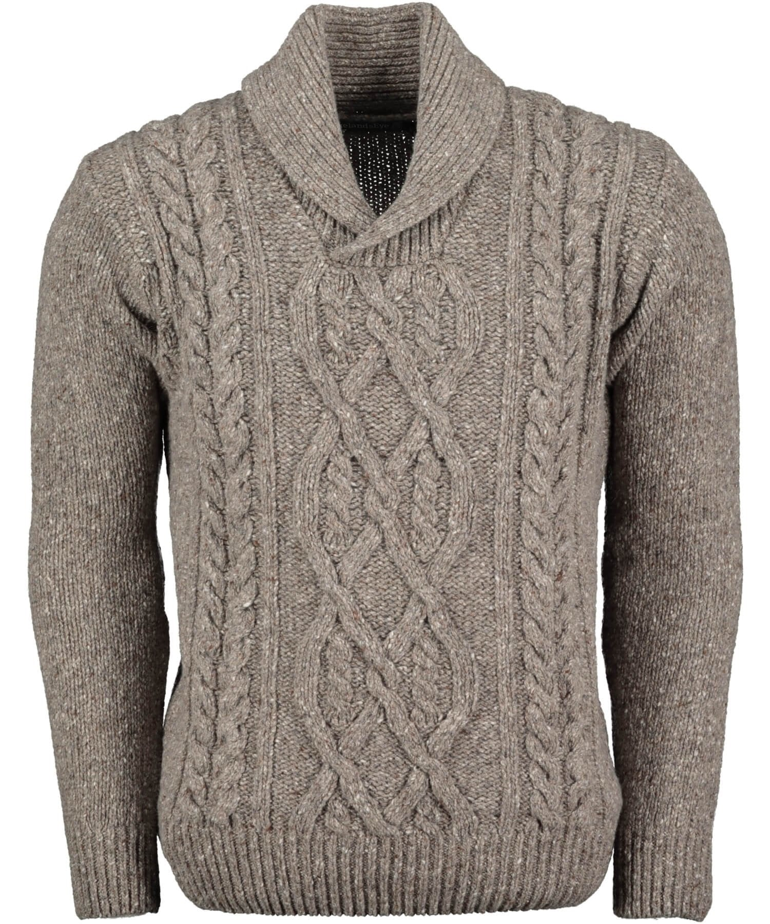 Clonard Shawl Collar Sweater - Rocky Ground Irelands Eye Mens Sweaters & Cardigans