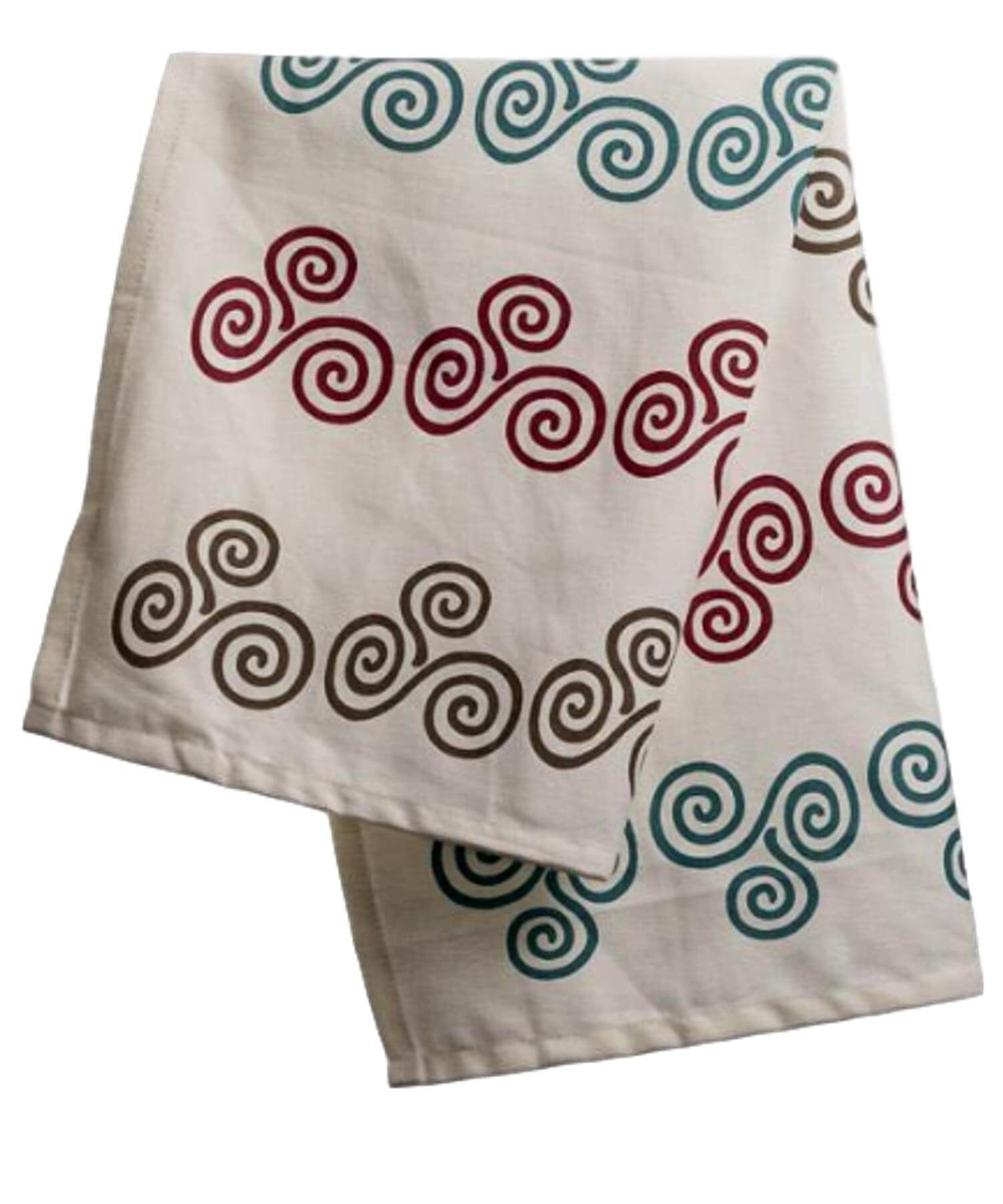 Teatowel - Triple Spiral - [Wild Goose] - Kitchen & Dining Textiles - Irish Gifts