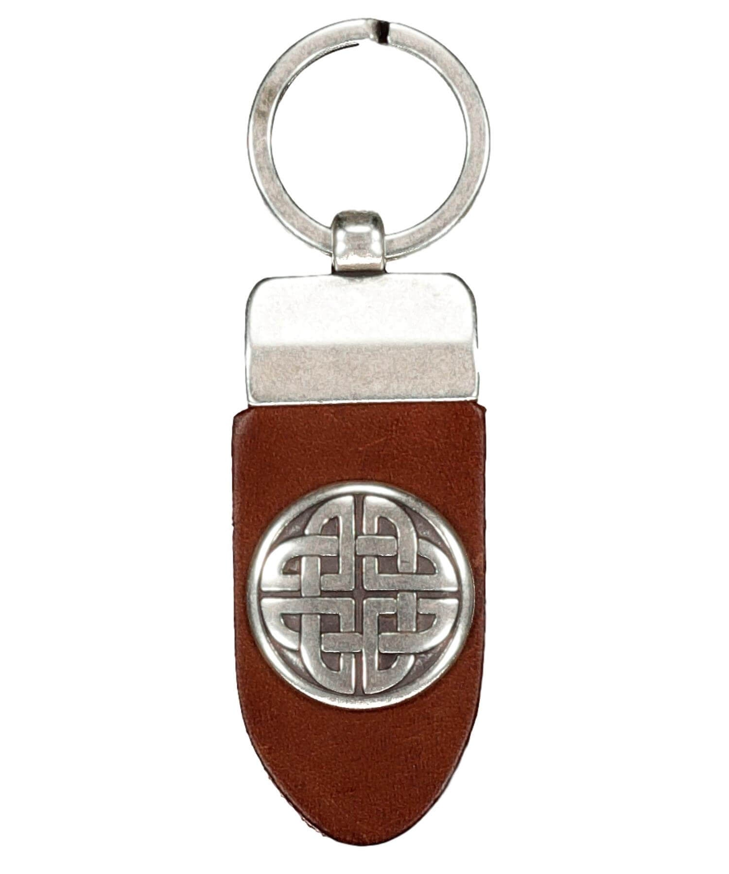 Finnbenach Keyring - Large Celtic Knot (brown) - [Lee River] - Bags, Purses & Wallets - Irish Gifts