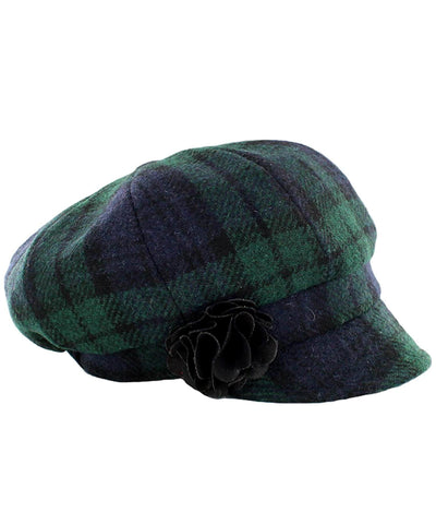 Newsboy Hat - Blackwatch - [Mucros Weavers] - Ladies Hats & Headbands - Irish Gifts