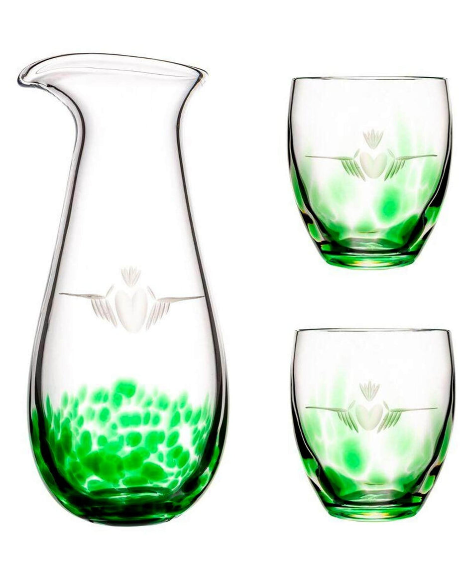 Claddagh Carafe & Glass Set - [The Irish Handmade Glass Company] - Irish Crystal & Glass - Irish Gifts