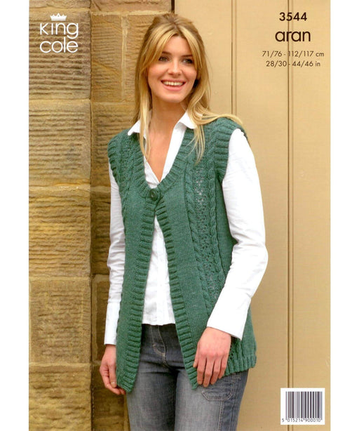 King Cole Aran Pattern 3544 Springwools Knitting