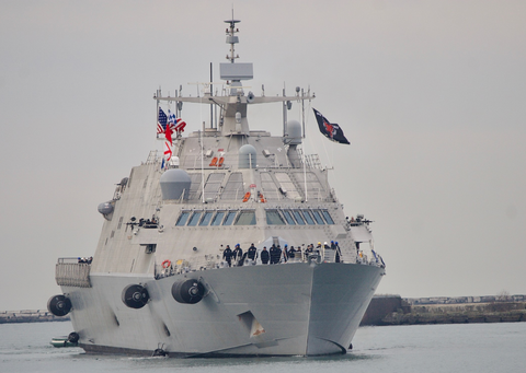 Littoral combat ship USS Little Rock at sea