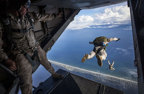 Healthy Care Packages Promotional Picture: Military Skydiver