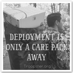 Sailor with care package, deployed Sailor, care pack