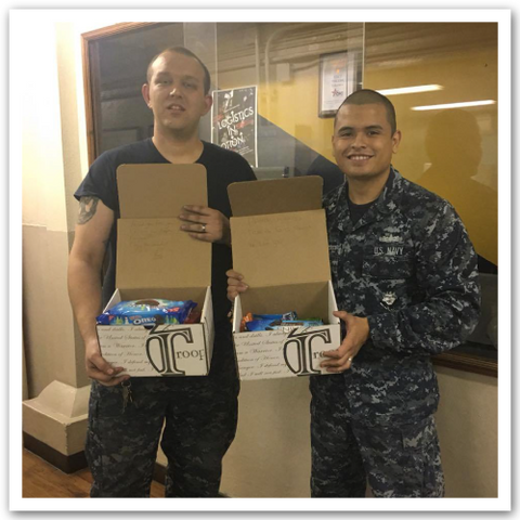troops with care packages
