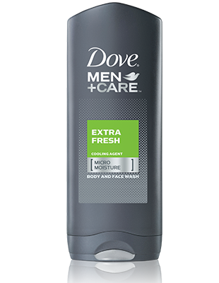 Dove Men+Care Body and Face Wash, Extra Fresh