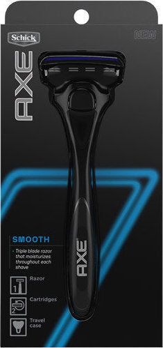 "Schick Axe ""Smooth"" Triple Blade Razor for Men"