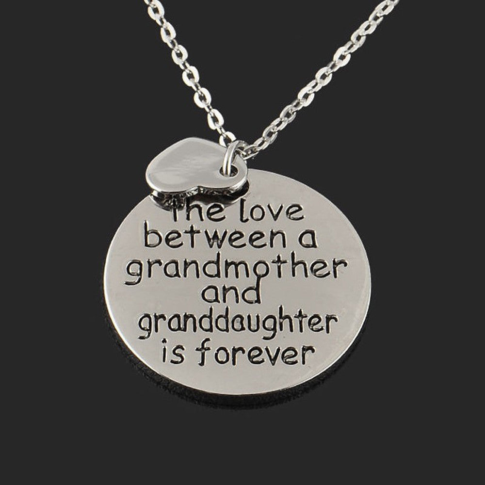 Love Between a Grandmother & Granddaughter Necklace