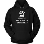 Kings Are Born In January Hoodie
