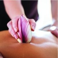 Lava Shell Massage - Back Massage plus either arms or legs