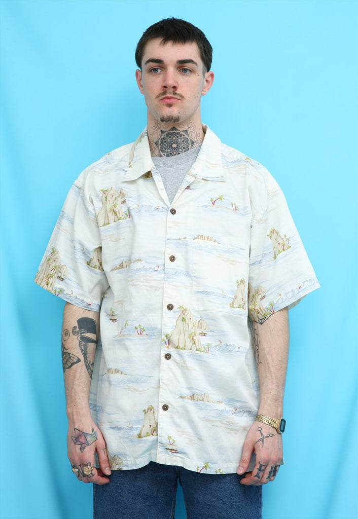80s Vintage Hawaiian Summer Surf Shirt