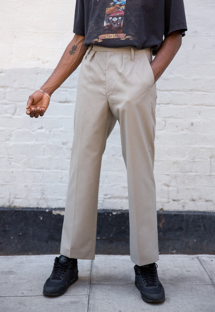 Beige/ Stone Military Chino Trousers