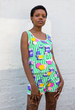 1980s Vintage Novelty Print Two Piece
