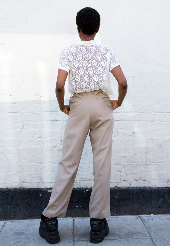 Vintage Beige Military Trousers