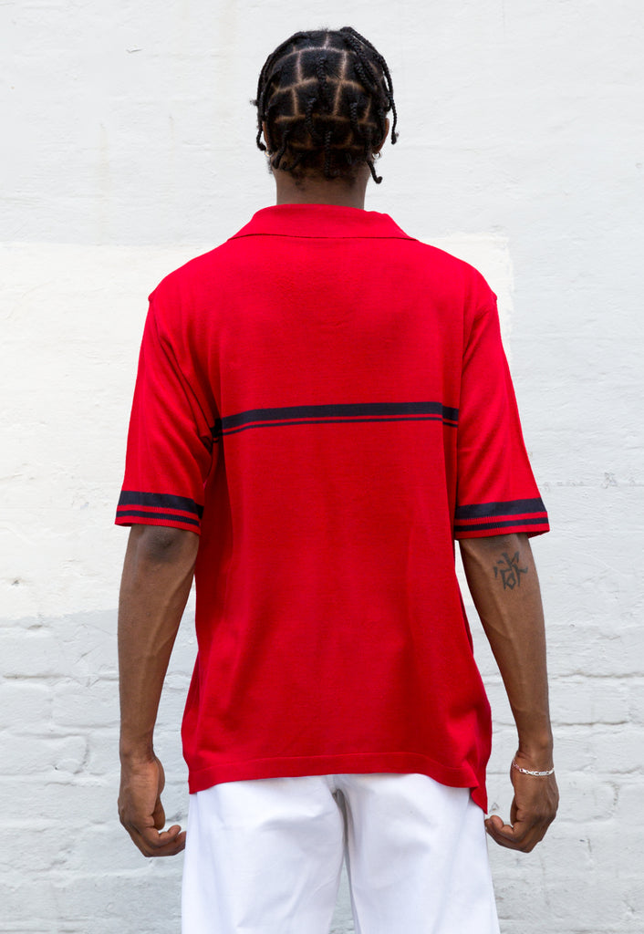 Vintage Lacoste Style Knit Polo Shirt