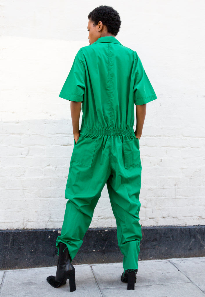 1970s Vintage Unisex Green Boilersuit