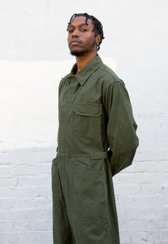 Vintage Dutch Military Khaki Jacket