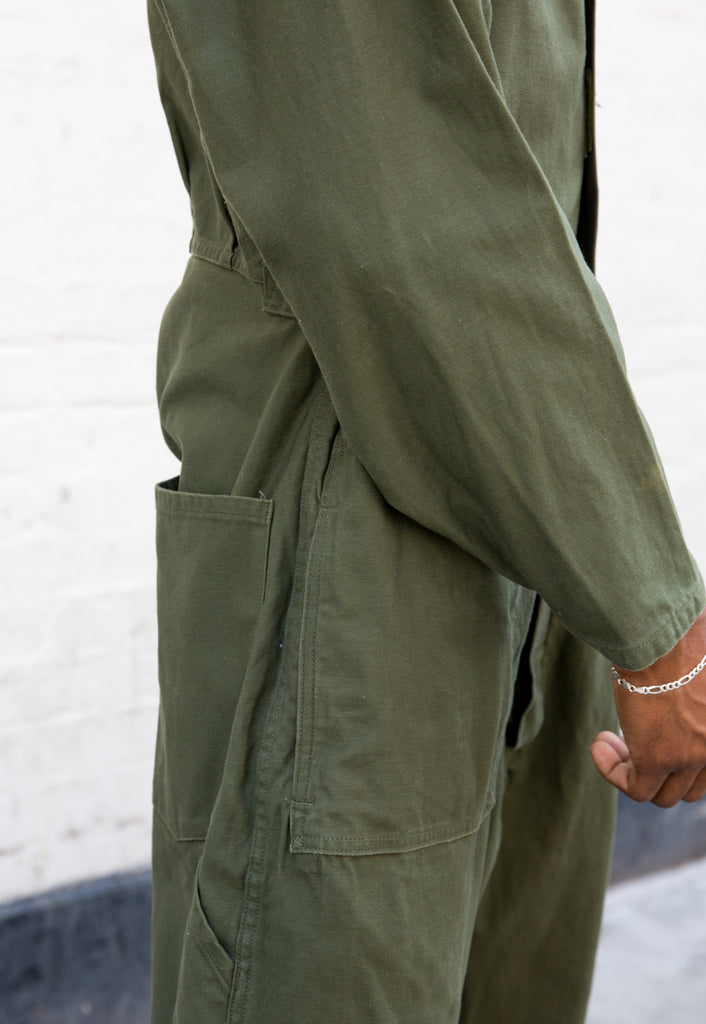 90s Vintage Forest Green Boilersuit