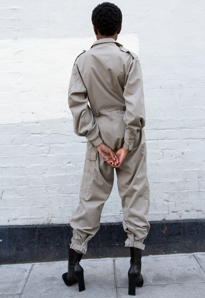 90s Vintage Beige/Stone Boilersuit