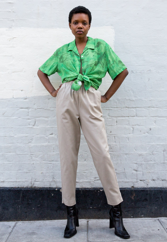 90s Vintage Green Sheer Shirt